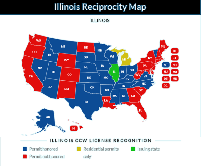 Illinois Reciprocity Map