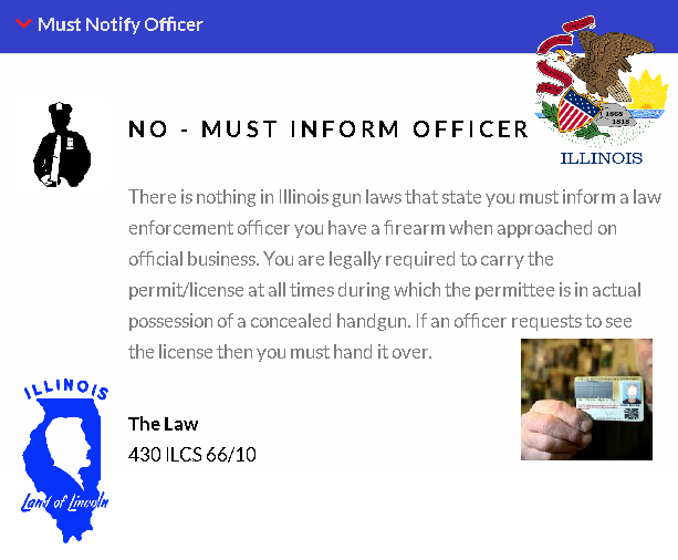 No - imforming police about CCW 2